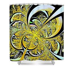 Lemon Twist Shower Curtain by Anastasiya Malakhova