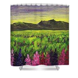 Lemon Yellow Sunset Shower Curtain by Anastasiya Malakhova