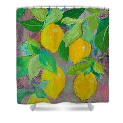 Lemons On Lemon Tree Shower Curtain