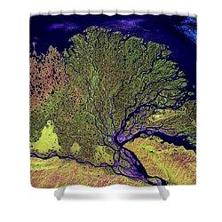 Lena River Delta Shower Curtain by Adam Romanowicz