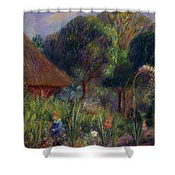 Lenna By A Summer House Shower Curtain by William James Glackens