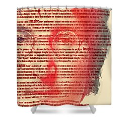 Lennon  Shower Curtain by Mark Ashkenazi