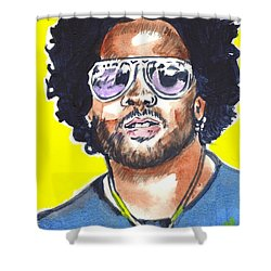 Lenny Kravitz Shower Curtain by Bryan Bustard