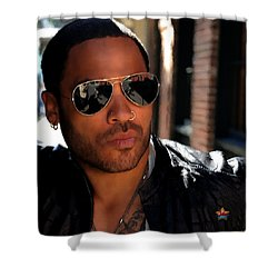 Lenny Kravitz Shower Curtain