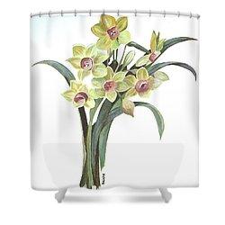 Lent Lily Shower Curtain by Tracey Harrington-Simpson