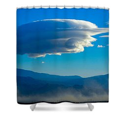 Lenticular Dust Storm Shower Curtain by Angela J Wright