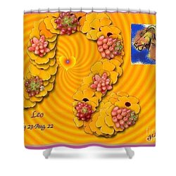 Shower Curtain featuring the digital art Leo  by The Art of Alice Terrill