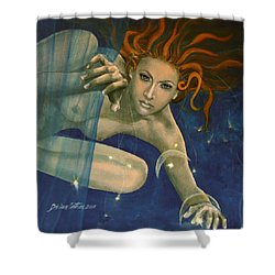 Leo From Zodiac Series Shower Curtain by Dorina  Costras