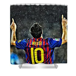 Leo Messi Poster Art Shower Curtain