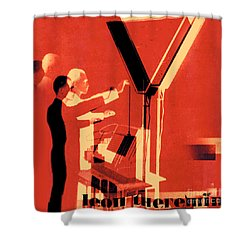 Leon Theremin Shower Curtain