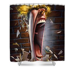Leonard J. Waxdeck's 25th Annual Bird Calling Contest Shower Curtain by Mark Fredrickson
