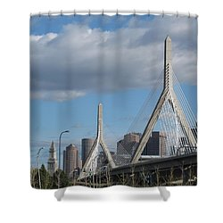 Leonard P Zakim Bridge Shower Curtain by Barbara McDevitt