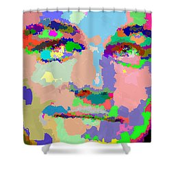 Leonardo Dicaprio - Abstract 01 Shower Curtain