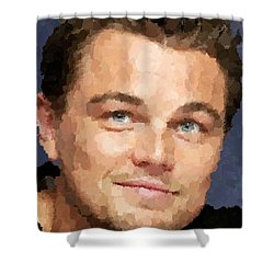 Leonardo Dicaprio Portrait Shower Curtain