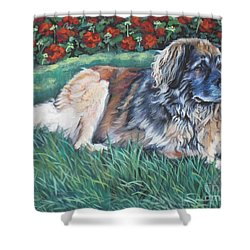 Leonberger Shower Curtain by Lee Ann Shepard