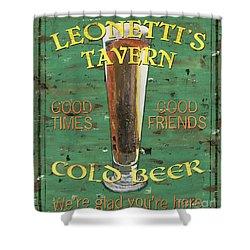 Leonetti's Tavern Shower Curtain by Debbie DeWitt