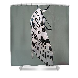 Leopard Moth Shower Curtain