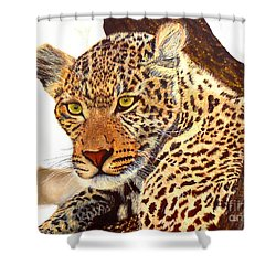 Leopard Point Of View Shower Curtain