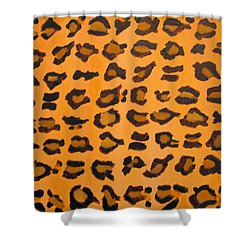 Leopard Print Hand Painted Leopard Print  Shower Curtain by RjFxx at beautifullart com