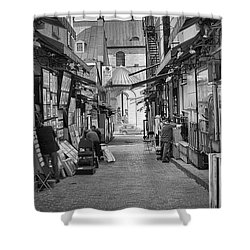 Les Artistes Shower Curtain by Eunice Gibb