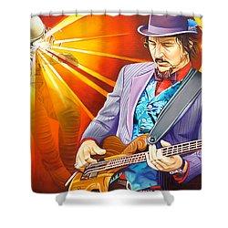Les Claypool's-sonic Boom Shower Curtain by Joshua Morton
