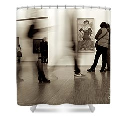 Les Fantasmes De Pompidou Shower Curtain