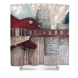 Les Paul Number 5 Shower Curtain
