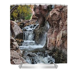 Let It Fall Shower Curtain by Amanda Eberly-Kudamik