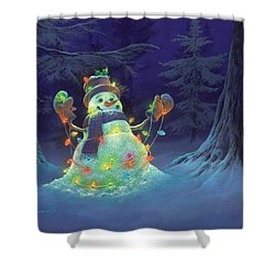 Let It Glow Shower Curtain