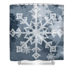 Shower Curtain featuring the digital art Let It Snow by Rebecca Davis