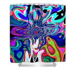 Jesus Talks Cross Original Contemporary Modern Abstract Expressionism Art Painting.  Shower Curtain