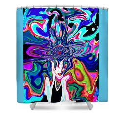 Jesus Talks Cross Original Contemporary Modern Abstract Expressionism Art Painting.  Shower Curtain by RjFxx at beautifullart com