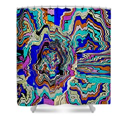 Original Abstract Art Painting Let Life Bloom Shower Curtain