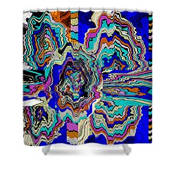 Original Abstract Art Painting Let Life Bloom Shower Curtain by RjFxx at beautifullart com