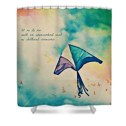 Let Me Fly Free Shower Curtain