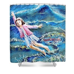 Let Me Play Among The Stars  Shower Curtain by Trudi Doyle
