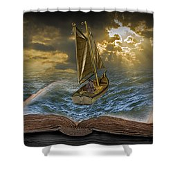Let The Adventure Begin Shower Curtain by Randall Nyhof