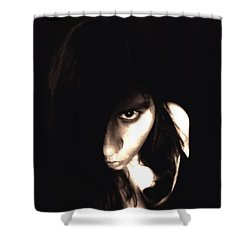 Shower Curtain featuring the photograph Let The Darkness Take Me by Vicki Spindler