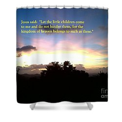 Let The Little Children Come To Me Shower Curtain