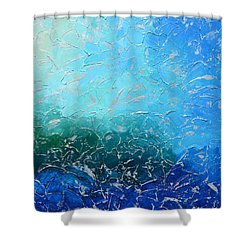 Let The Sea Roar With All Its Fullness Shower Curtain