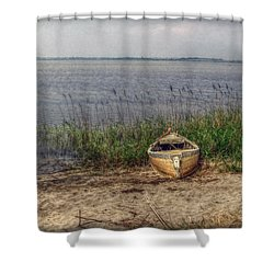 Shower Curtain featuring the photograph L'etang by Hanny Heim