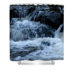 Letchworth State Park Genesee River Cascades Shower Curtain by Rose Santuci-Sofranko