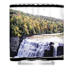 Letchworth State Park Middle Falls Panorama Shower Curtain by Rose Santuci-Sofranko