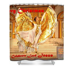 Let's Celebrate Lord Jesus And Dance Shower Curtain