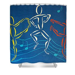 Let's Dance Shower Curtain by Pamela Allegretto