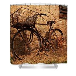 Let's Go Ride A Bike Shower Curtain by Michael Porchik
