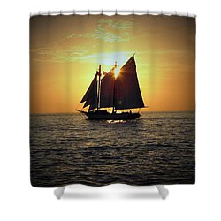 A Key West Sail At Sunset Shower Curtain