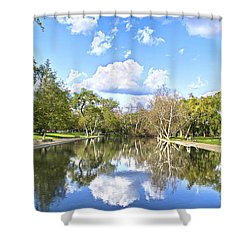 Let's Go Swimming Shower Curtain