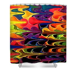 Shower Curtain featuring the digital art Lets Go This Way by Mary Bedy