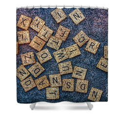 Lets Play Scrabble Shower Curtain